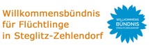 Banner: Willkommensbündnis Steglitz-Zehlendorf