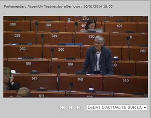 Dr. Ute Finckh-Krämer vor der Parlamentarischen Versammlung